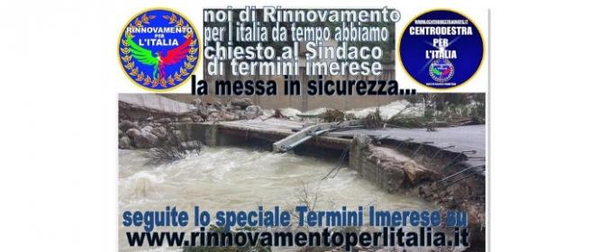 Esondazione Termini Imerese, di nuovo sfollati i cittadini e il Sindaco non risponde...era alla Mostra dei quadri al Palazzo Comunale...