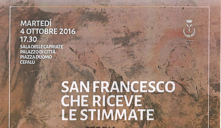 San Francesco che riceve le stimmate ,conferenza  a Cefalu'