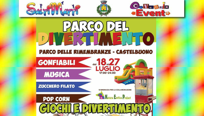 """""""Il Parco del divertimento"""" è Presso il Parco delle Rimembranze di Castelbuono"""