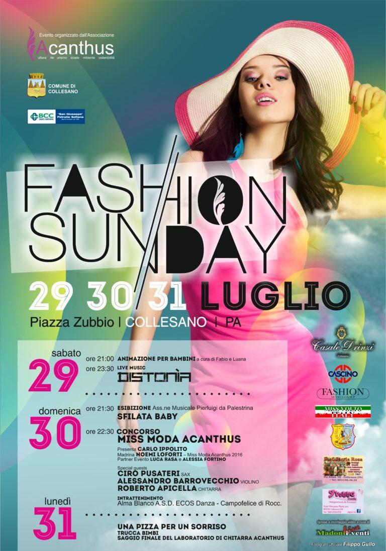 Collesano,terza edizione del Fashion Sunday