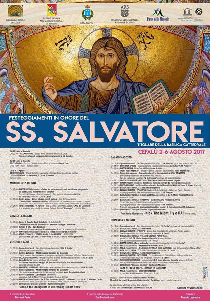 Cefalu', ecco il programma della festa del SS. Salvatore