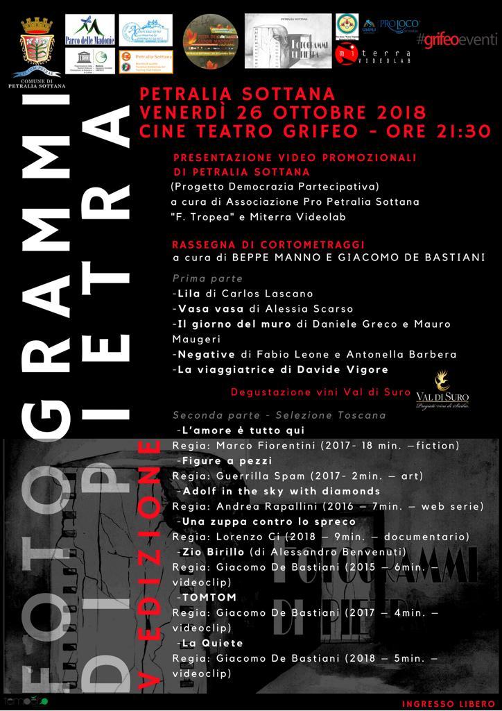 Fotogrammi di Pietra,rassegna di cortometraggi a Petralia Sottana