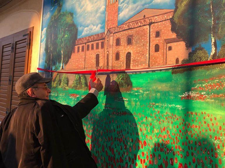 Blufi,murales in piazza