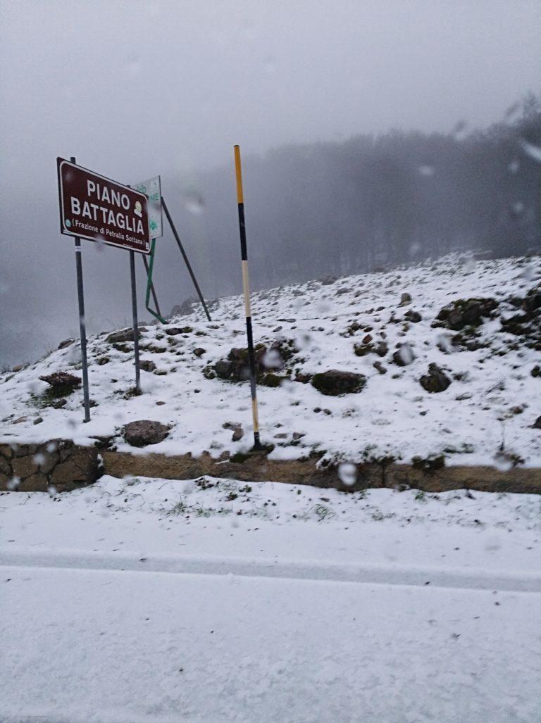 Nevica a Piano Battaglia