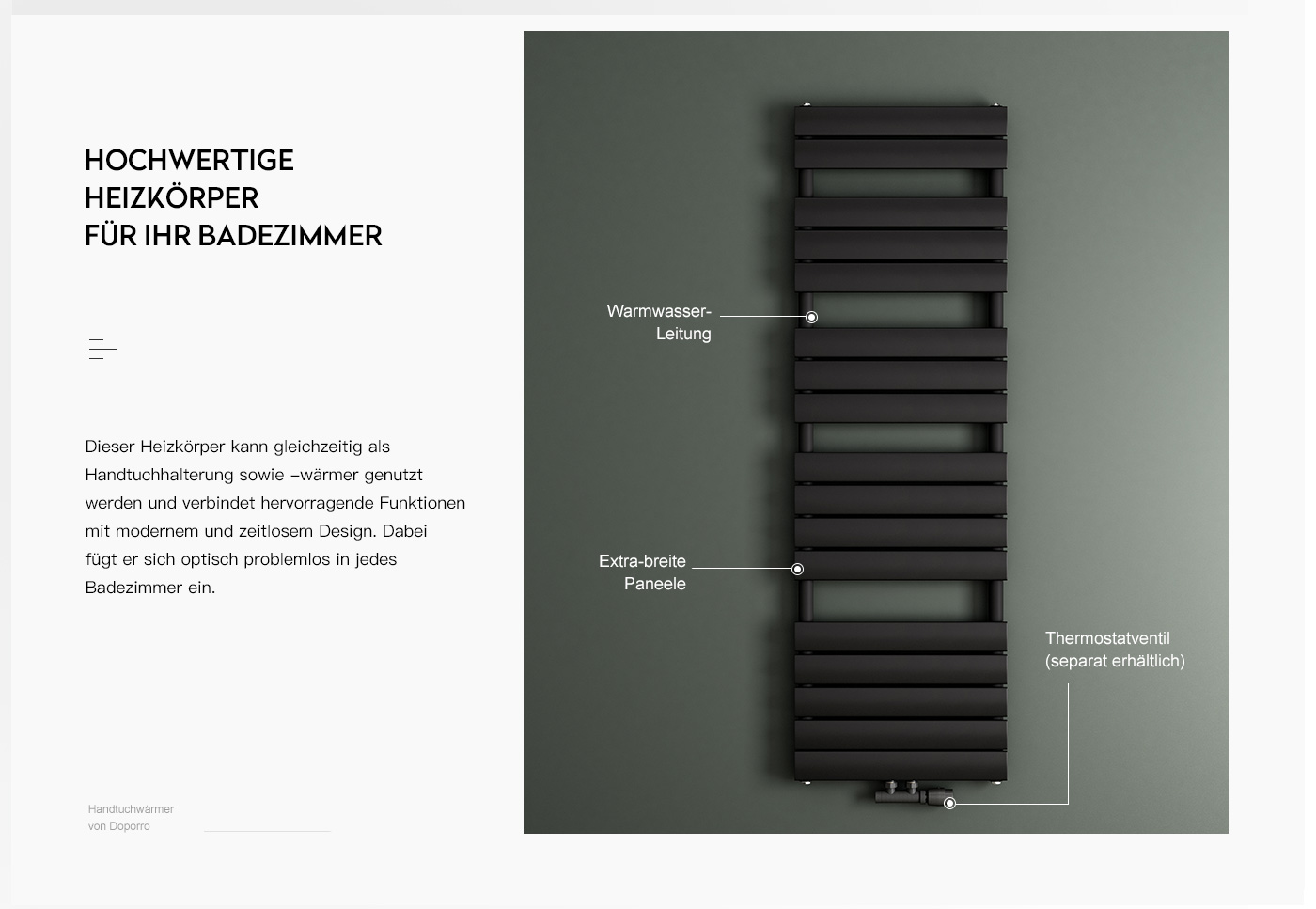 Sogood Design Badheizung Heizkörper Heizung Weiß Handtuchwärmer Wandheizung FH