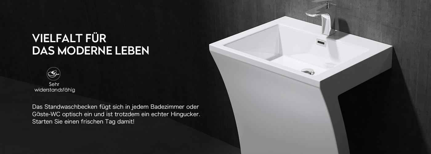 Standwaschbecken Gussmarmor Stand Waschtischsäule
