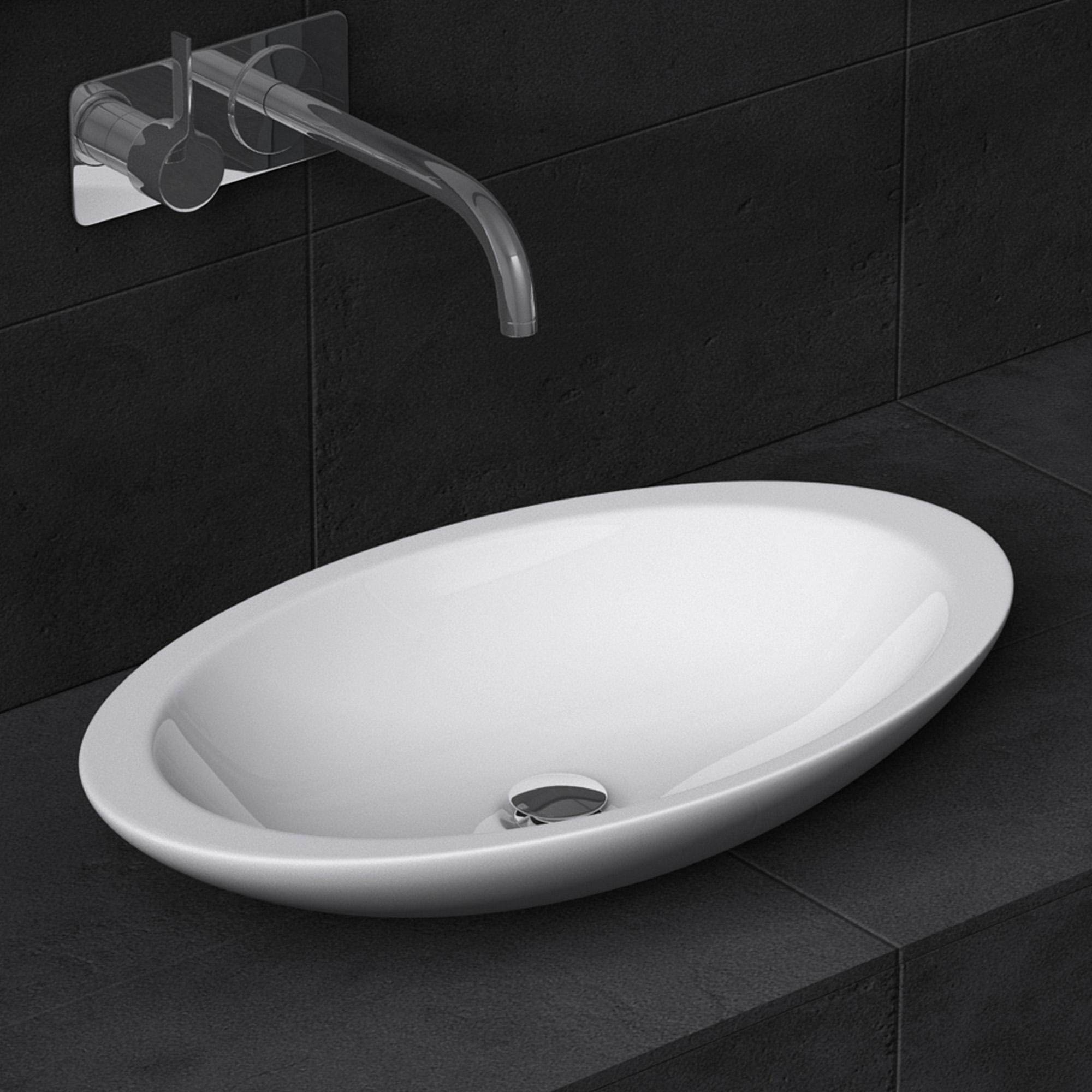 mineralguss waschbecken wei gl nzend aufsatzwaschbecken waschtisch gussmarmor ebay. Black Bedroom Furniture Sets. Home Design Ideas