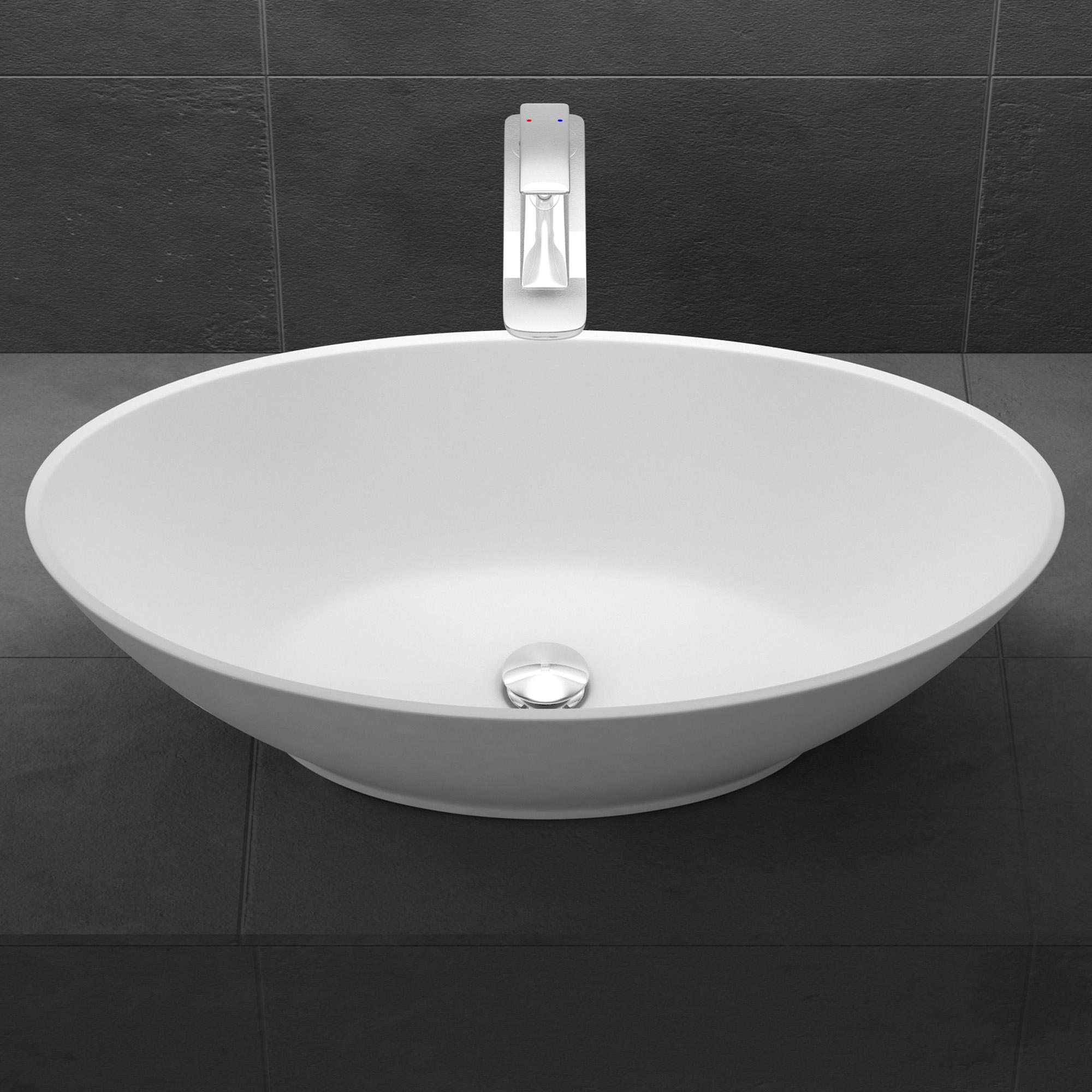 mineralguss oval waschbecken aufsatzwaschbecken waschtisch gussmarmor col807 ebay. Black Bedroom Furniture Sets. Home Design Ideas