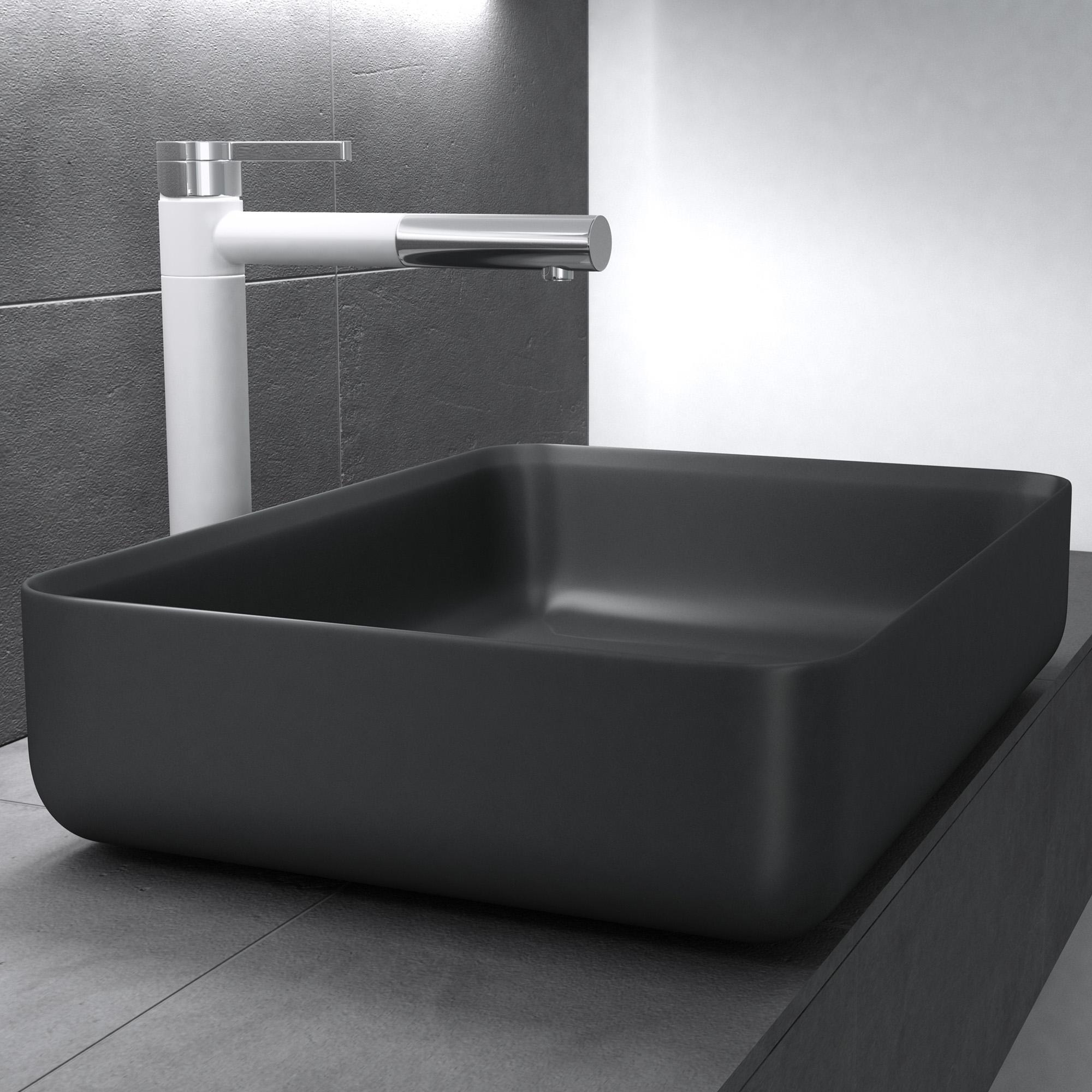 mineralguss anthrazit matt waschbecken aufsatzwaschbecken waschtisch gussmarmor ebay. Black Bedroom Furniture Sets. Home Design Ideas