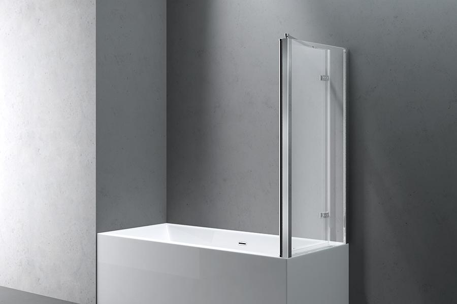 Glas badewannenaufsatz duschabtrennung faltwand duschwand echtglas cortona113 ebay - Schwenkbare duschwand ...