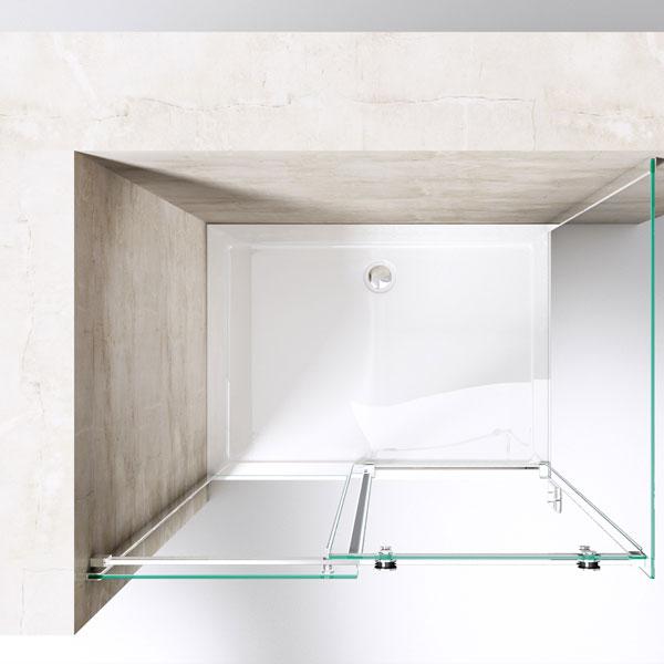 duschkabine dusche duschabtrennung rechteckig kabine schiebet r glas duschtasse ebay. Black Bedroom Furniture Sets. Home Design Ideas