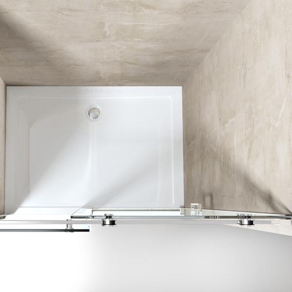 nische nischent r schiebet r inkl nano 8mm esg dusche duschabtrennung easyclean ebay. Black Bedroom Furniture Sets. Home Design Ideas