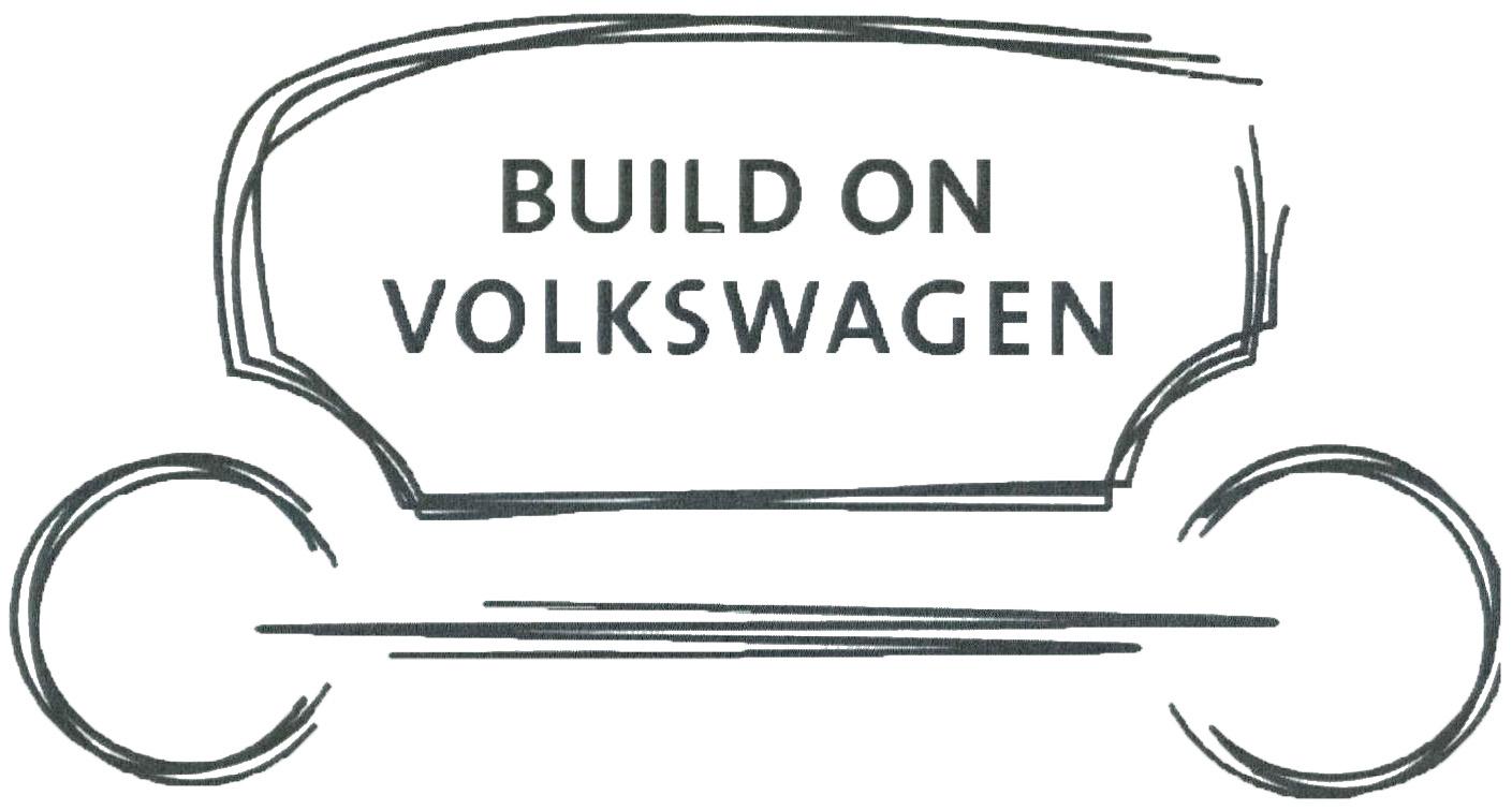 Wort-/Bildmarke: BUILD ON VOLKSWAGEN