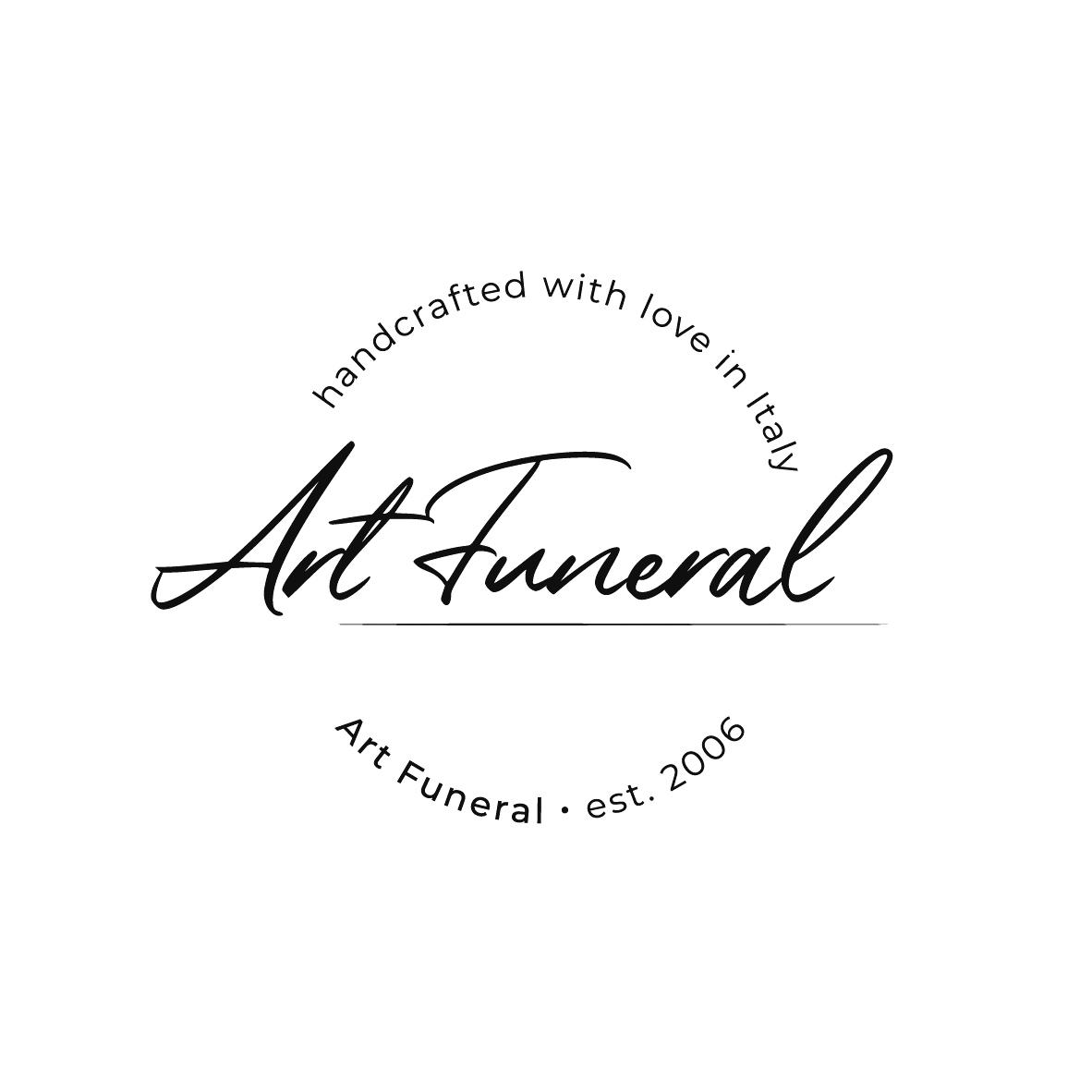 Bildmarke: art funeral handcrafted with love in Italy est. 2006