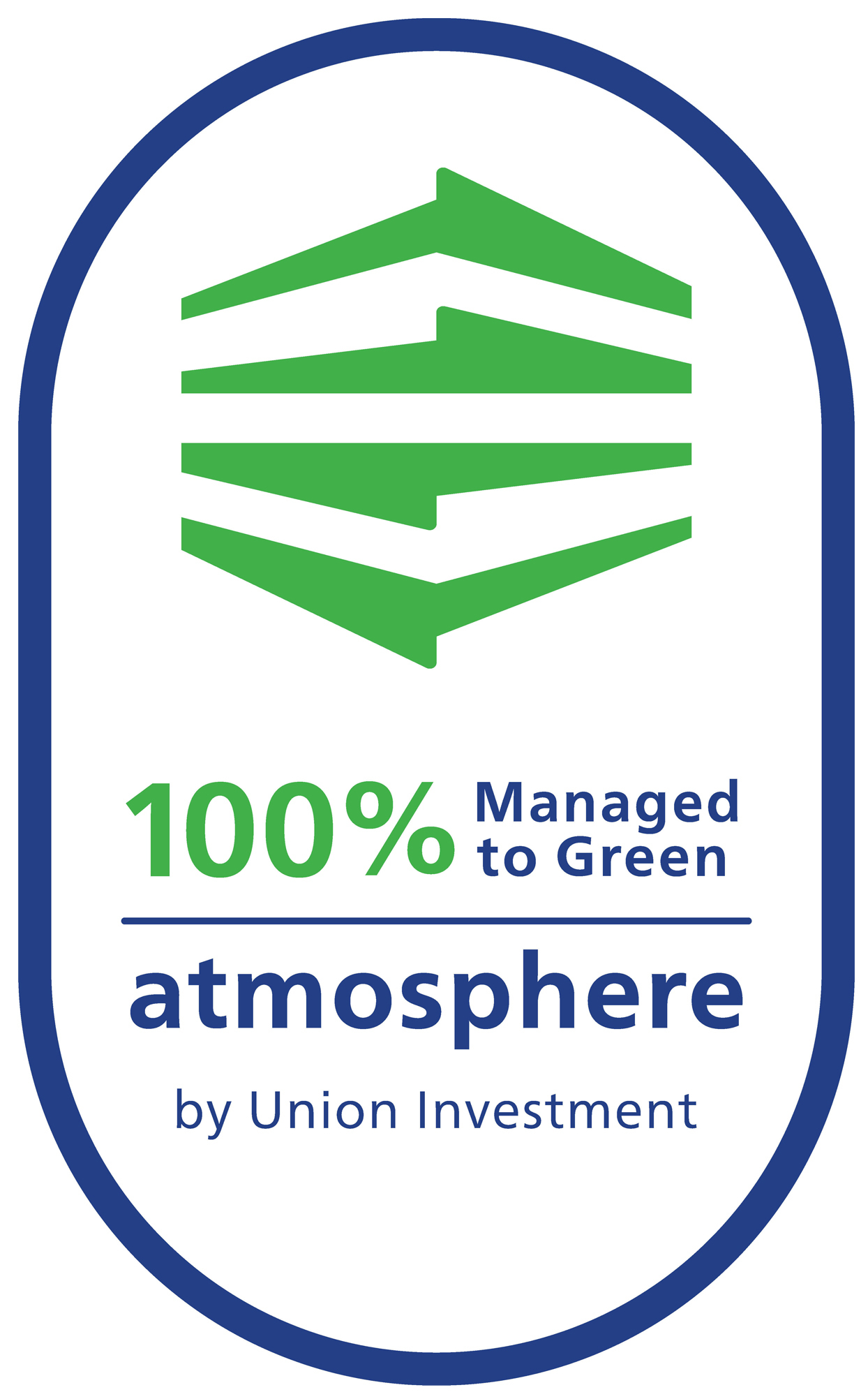 Bildmarke: 100% Managed to Green atmosphere by Union Investment