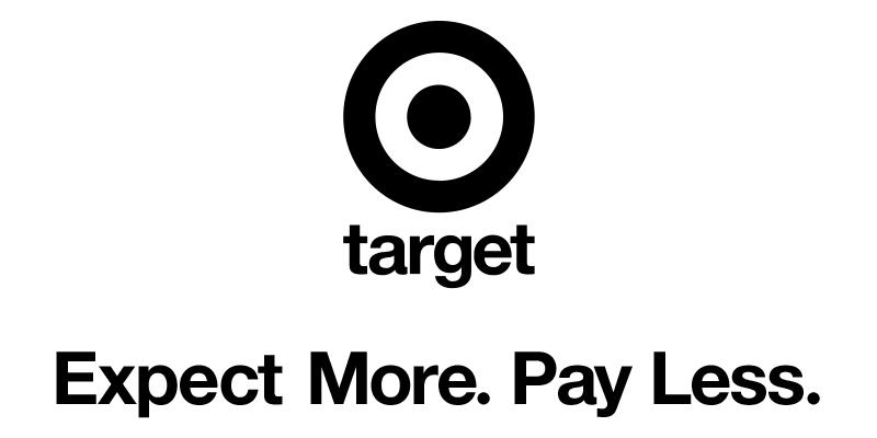 Bildmarke: TARGET EXPECT MORE. PAY LESS