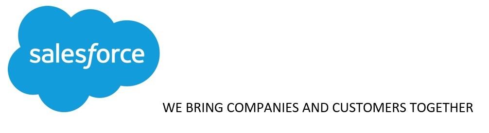 Bildmarke: salesforce WE BRING COMPANIES AND CUSTOMERS TOGETHER