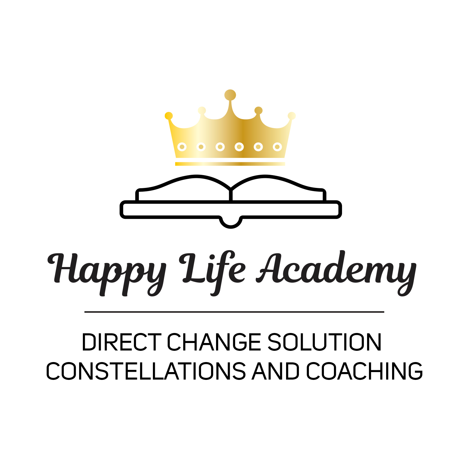 Bildmarke: HAPPY LIFE ACADEMY; DIRECT CHANGE SOLUTION CONSTELLATIONS AND COACHING
