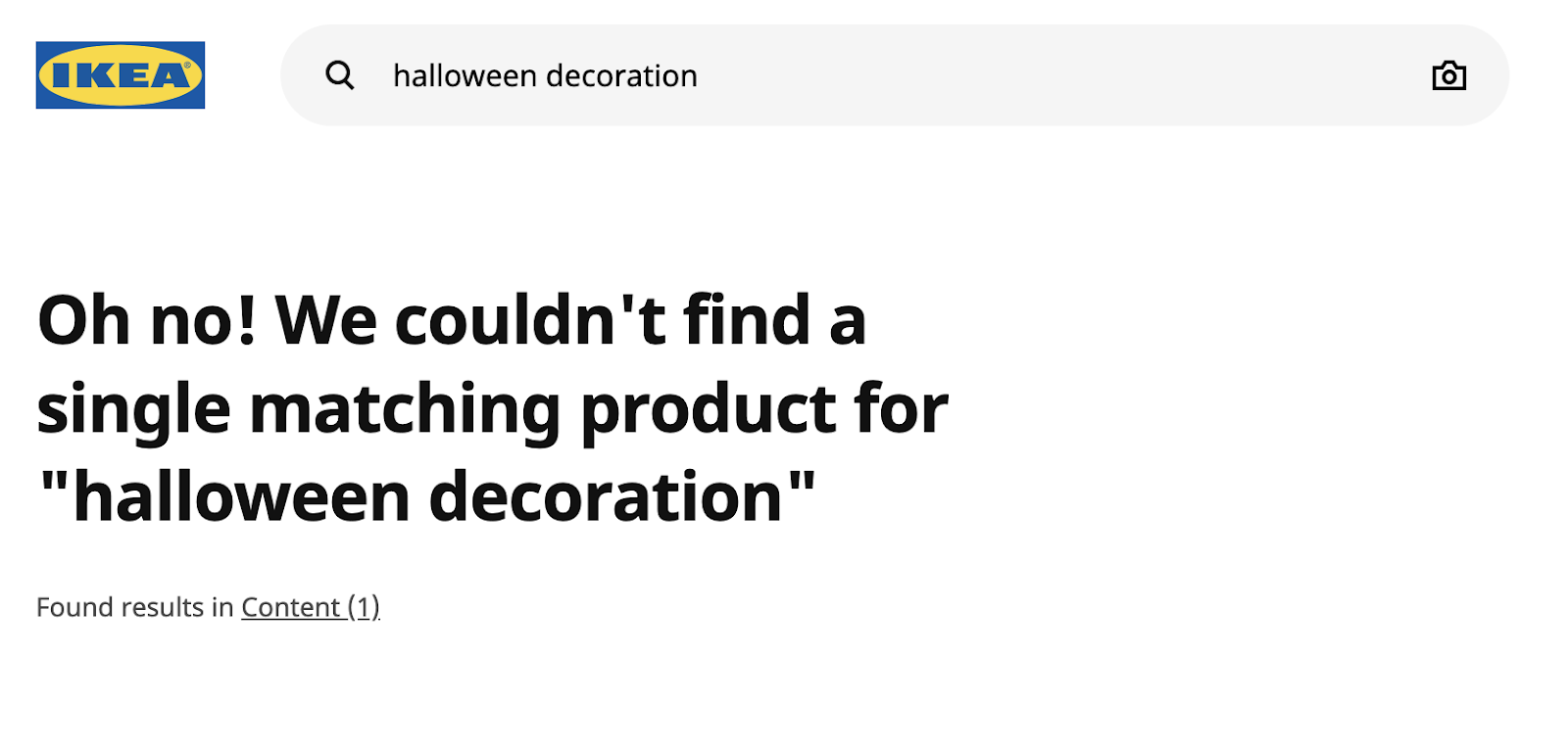 Ikea site search