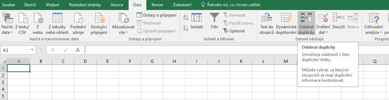 Mazání duplicit v Excelu
