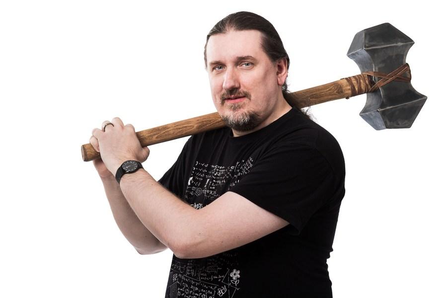 Pavel Ungr s kladivem
