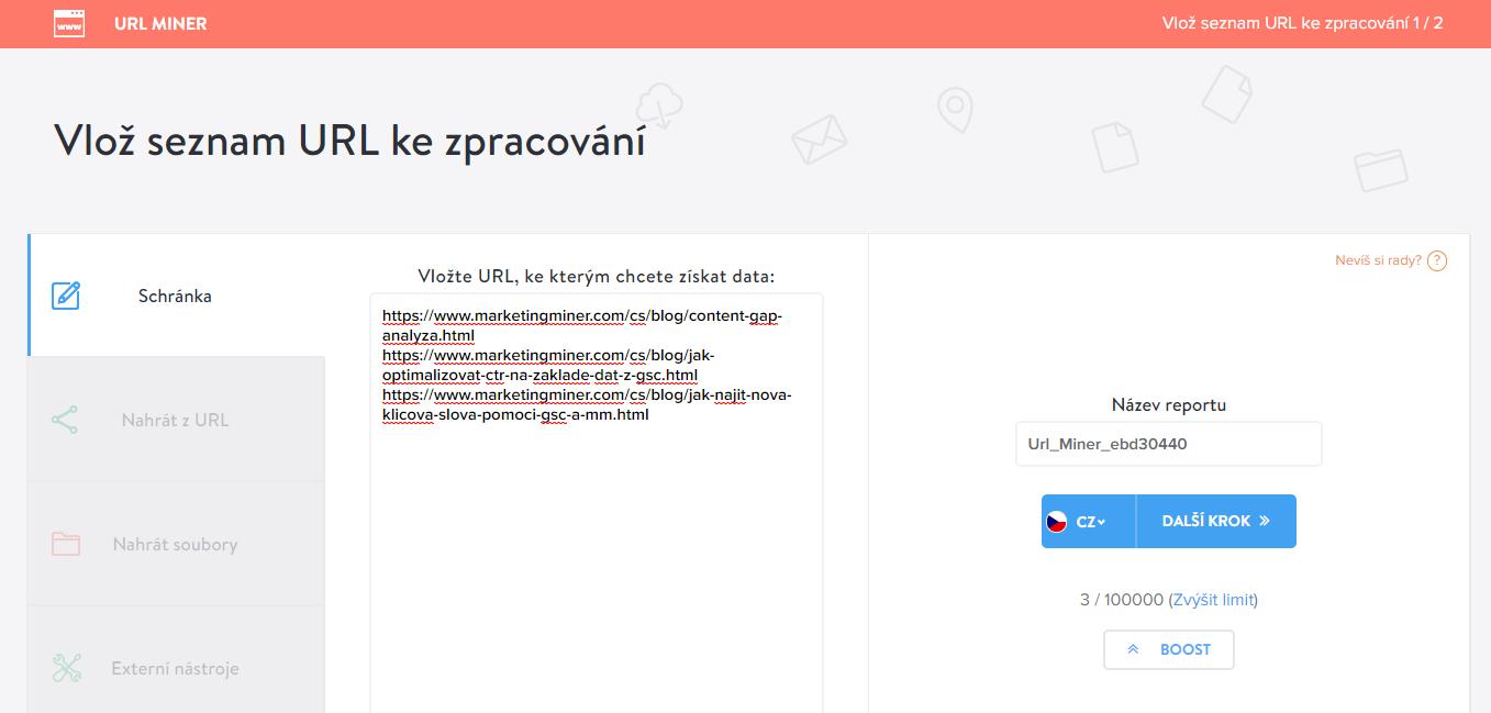 Vlož URL na spracování