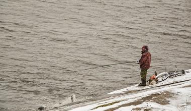 Zimnjaja rybalka na okunja