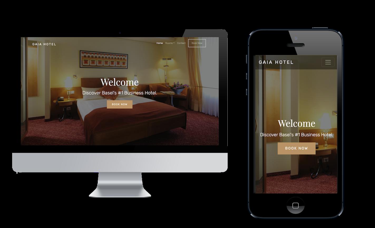 Gaia Hotel Webseite
