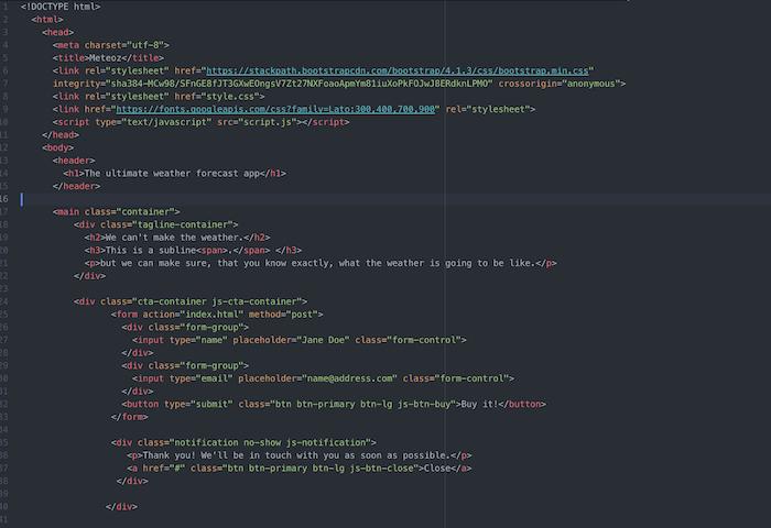 HTML Code von Janick