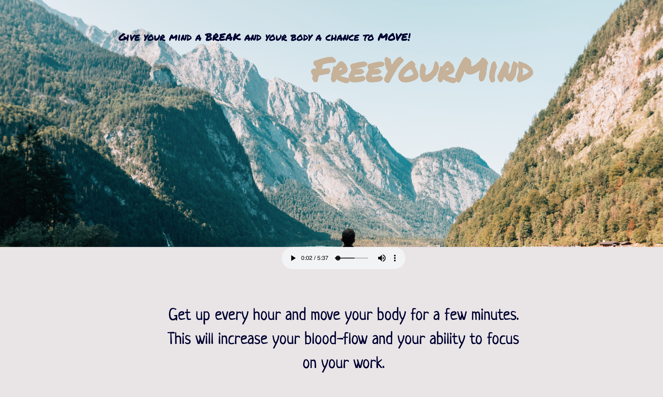 Free your mind web app