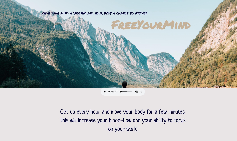 Free your mind web app