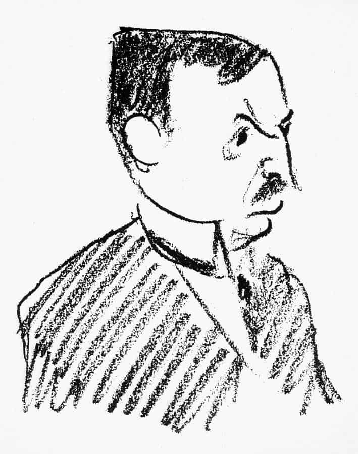 Oskar Pfister (Caricatura di Robert Bereny)