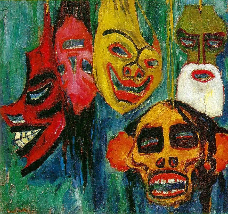 Emil Nolde - Mask Still Life III (1911)