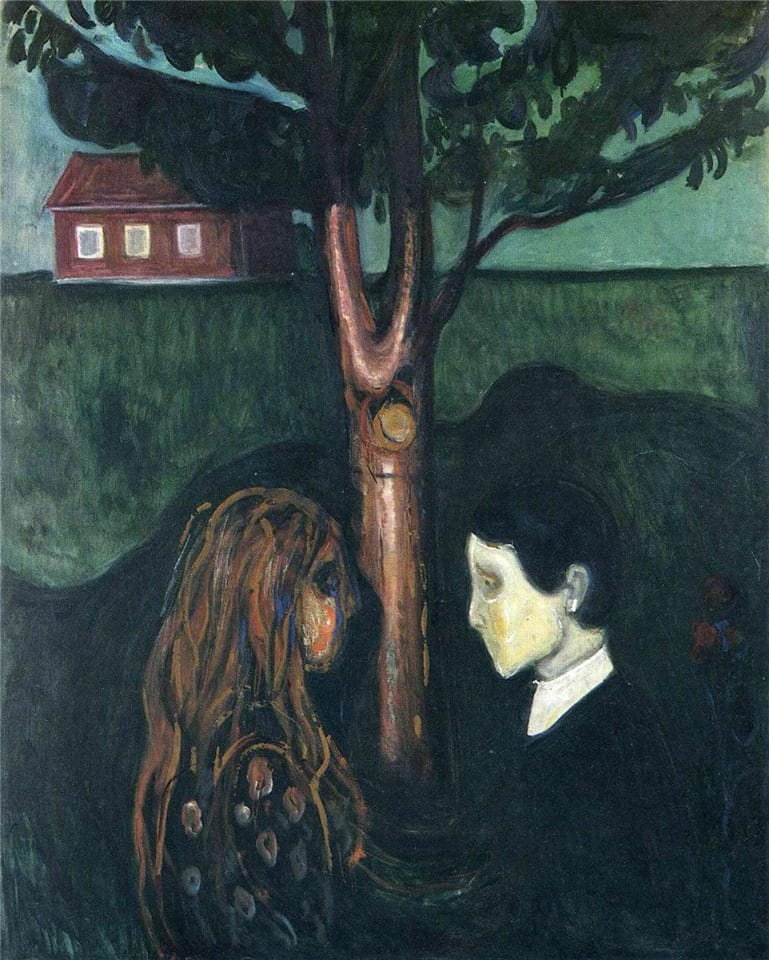 Edvard Munch - Eye in eye (1894)