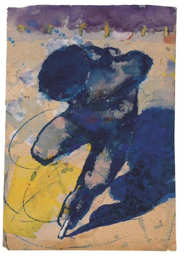 Emil Nolde - Ice skater (1938-1945)