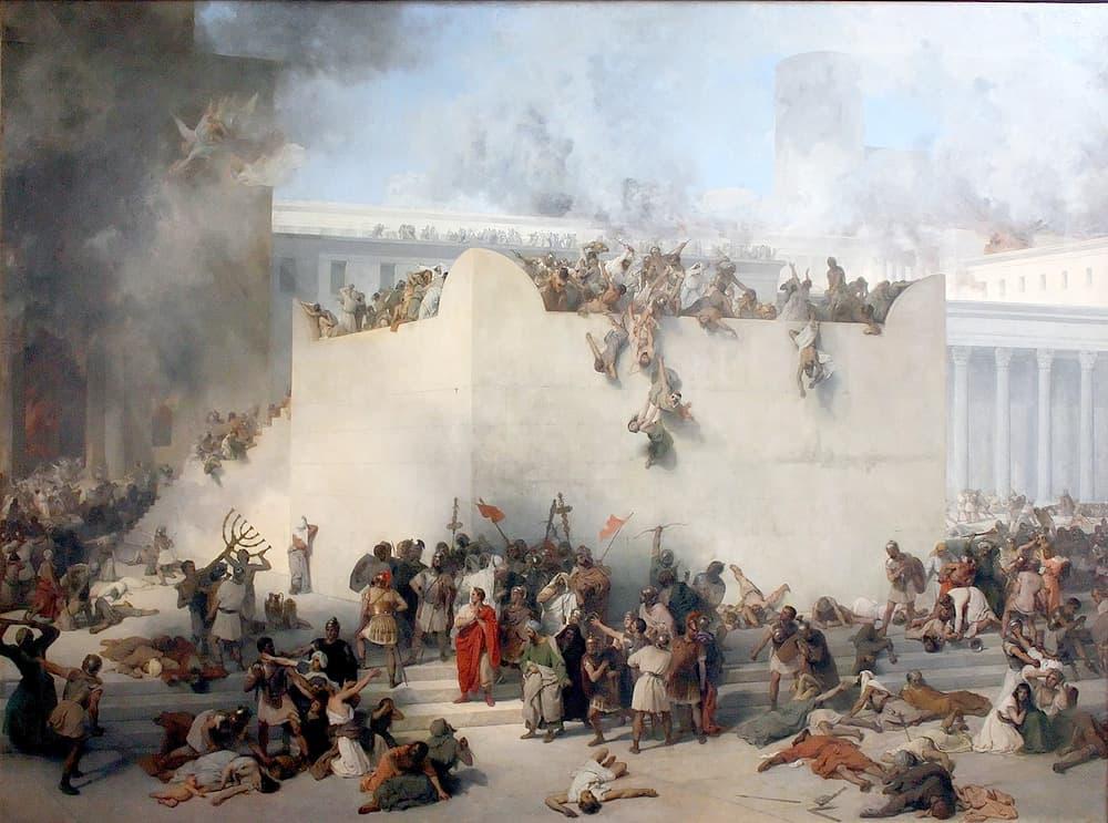 Francesco Hayez - La distruzione del tempio di Gerusalemme (1867)
