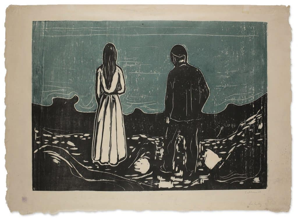 Edvard Munch - Two People. The Lonely Ones (1899)