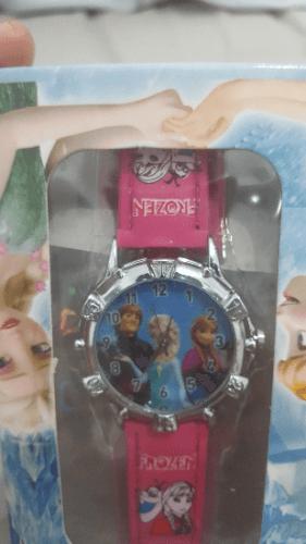 שעון FROZEN אלזה אנה וכריסטוף מהודר עם קופסא