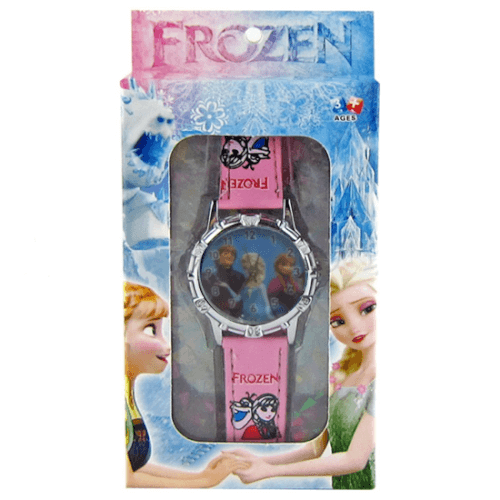 שעון FROZEN אלזה אנה וכריסטוף מהודר עם קופסא