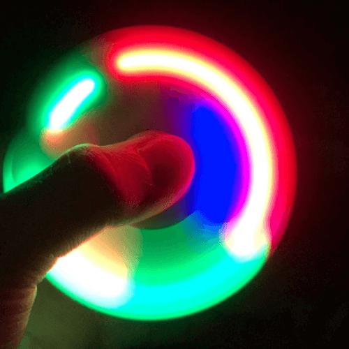 ספינר LED שחור