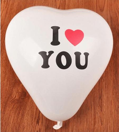10 בלוני לב i love you
