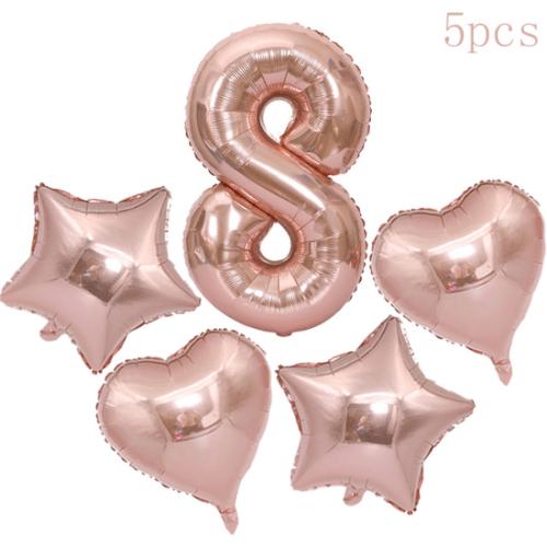 בלוני יום הולדת - מספר 8