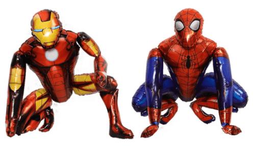 צמד גיבורי על ספיידרמן ואיירון מן בלוני ענק