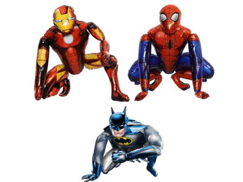 3 גיבורי על ספיידרמן,באטמן  ואיירון מן בלוני ענק