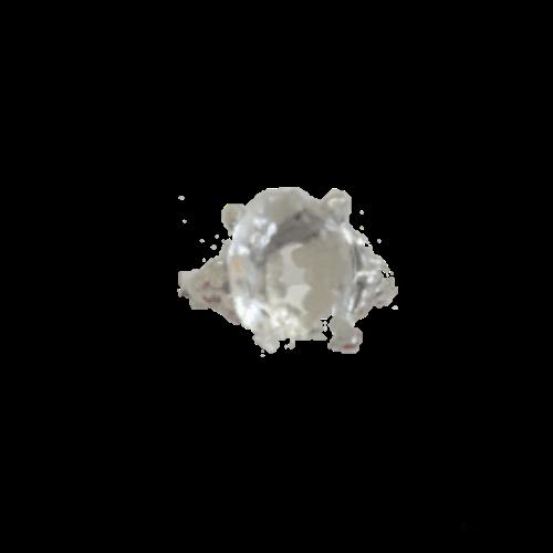 טבעת אבן קריסטל שקופה