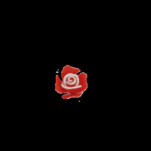 טבעת פרח לילדות בצבע אדום