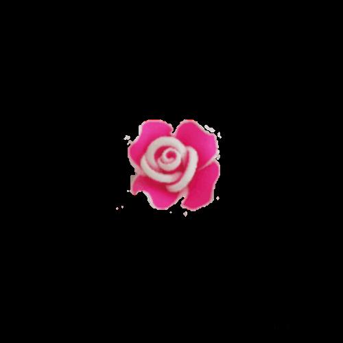 טבעת פרח לילדות בצבע ורוד פוקסיה