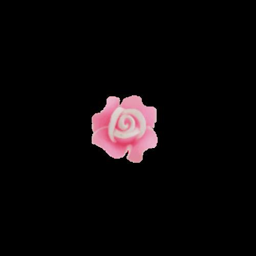 טבעת פרח לילדות בצבע ורוד בייבי
