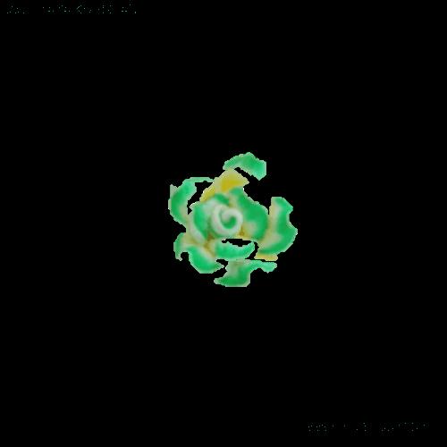 טבעת פרח לילדות בצבע ירוק-לבן