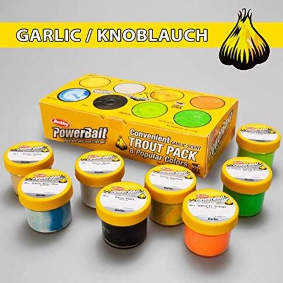 Berkley Pack da 8 Paste Scent Aglio Colori Assortiti